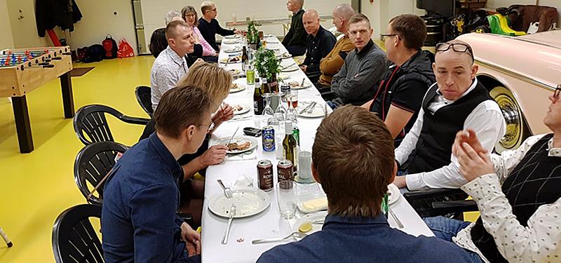Middag i Nyborg Triathlon Klub