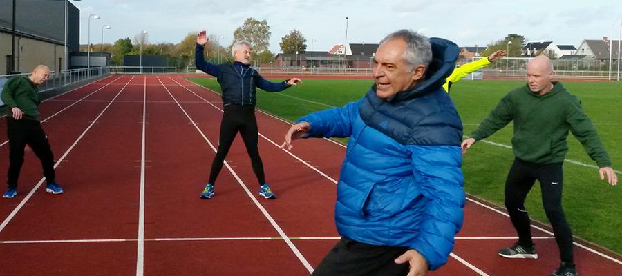 Løbekursus med Zlatko Zaharov i Idrætsparken i Nyborg